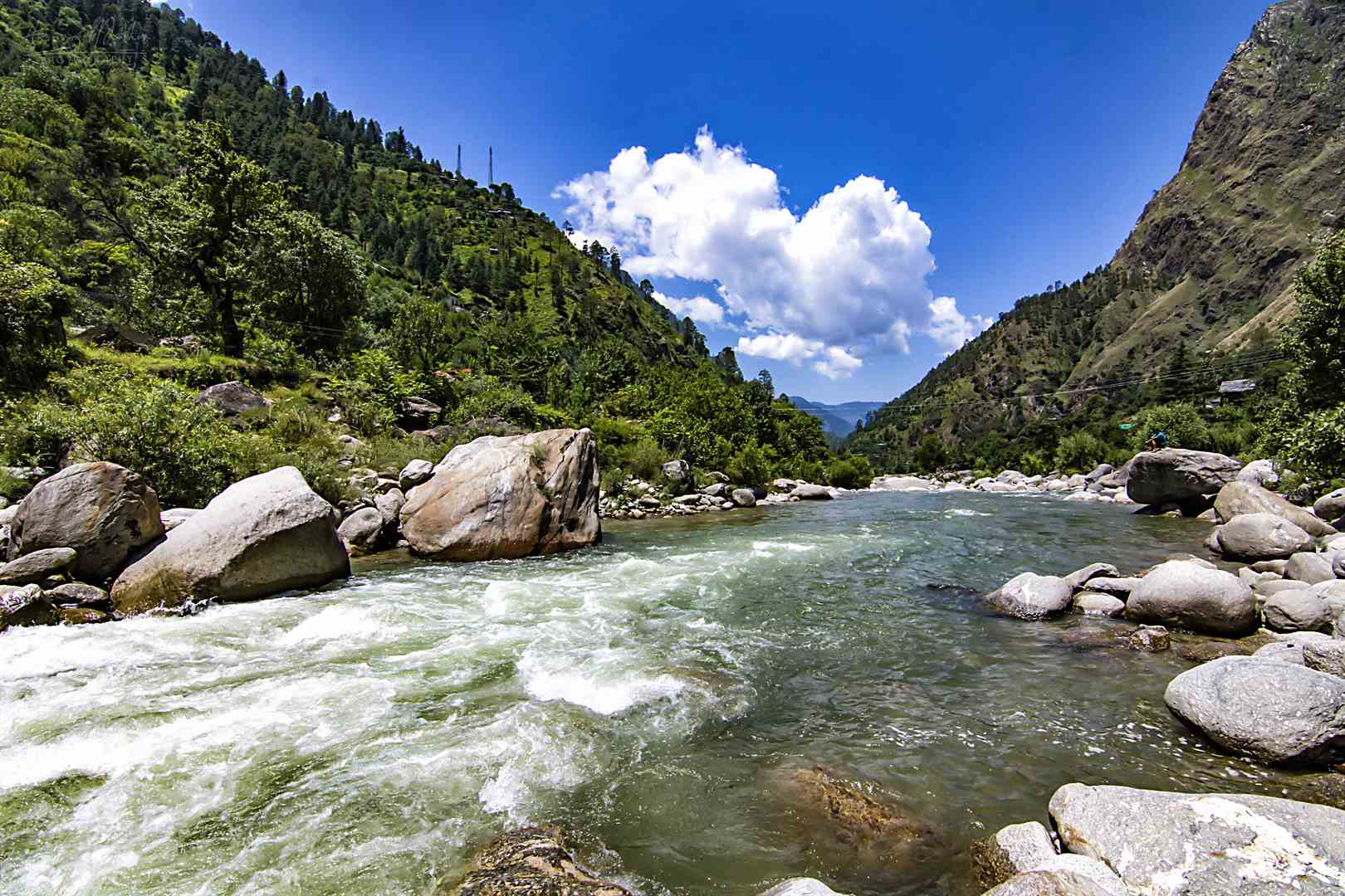 Tirthan River Crossing Site